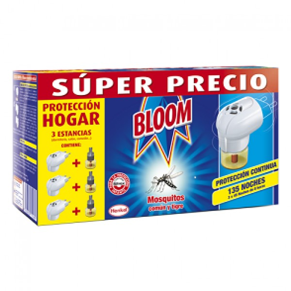 Bloom INSECTICIDA electrico pack ahorro 135 noches