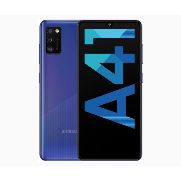 Samsung galaxy a41 azul móvil 4g dual sim 6.1'' super amoled fhd+/8core/64gb/4gb ram/48mp+8mp+5mp/25mp