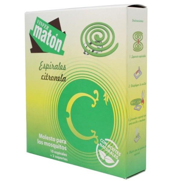 MATON Vinfer INSECTICIDA ESPIRALES 10U + 2 SOPORTES