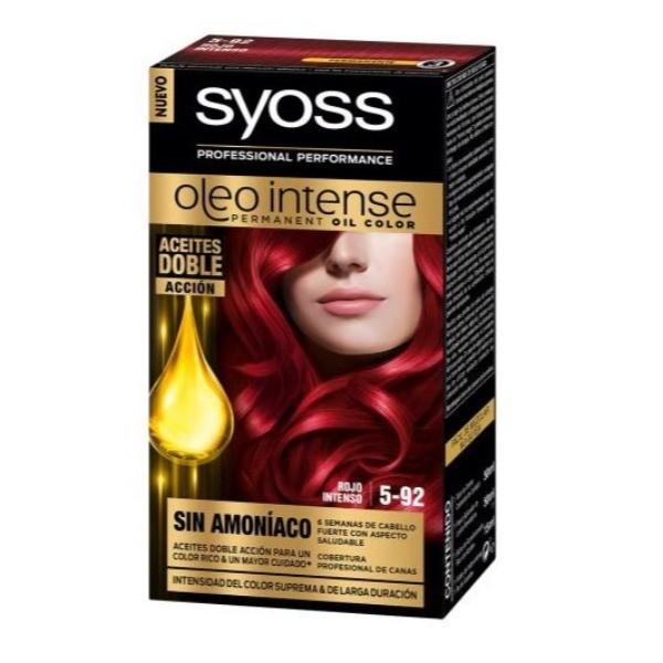 Syoss coloración permanente  Rojo Intenso 5-92