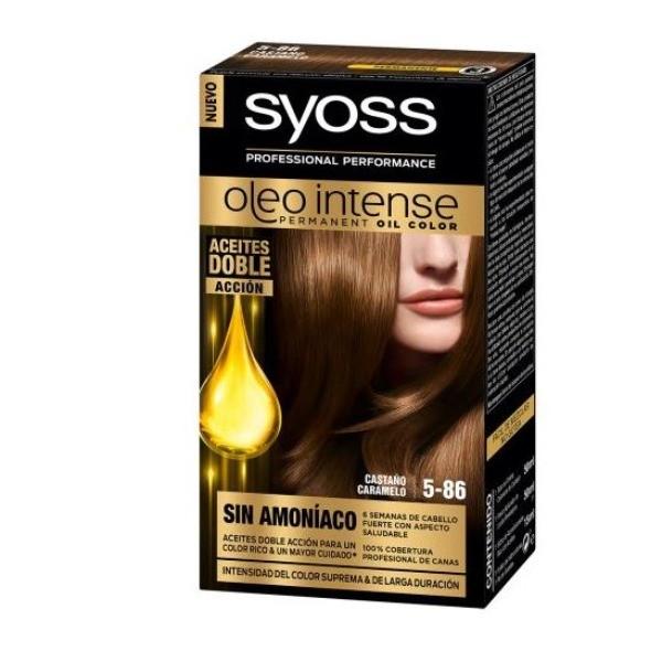 Syoss coloración permanente  Castaño Caramelo 5-86